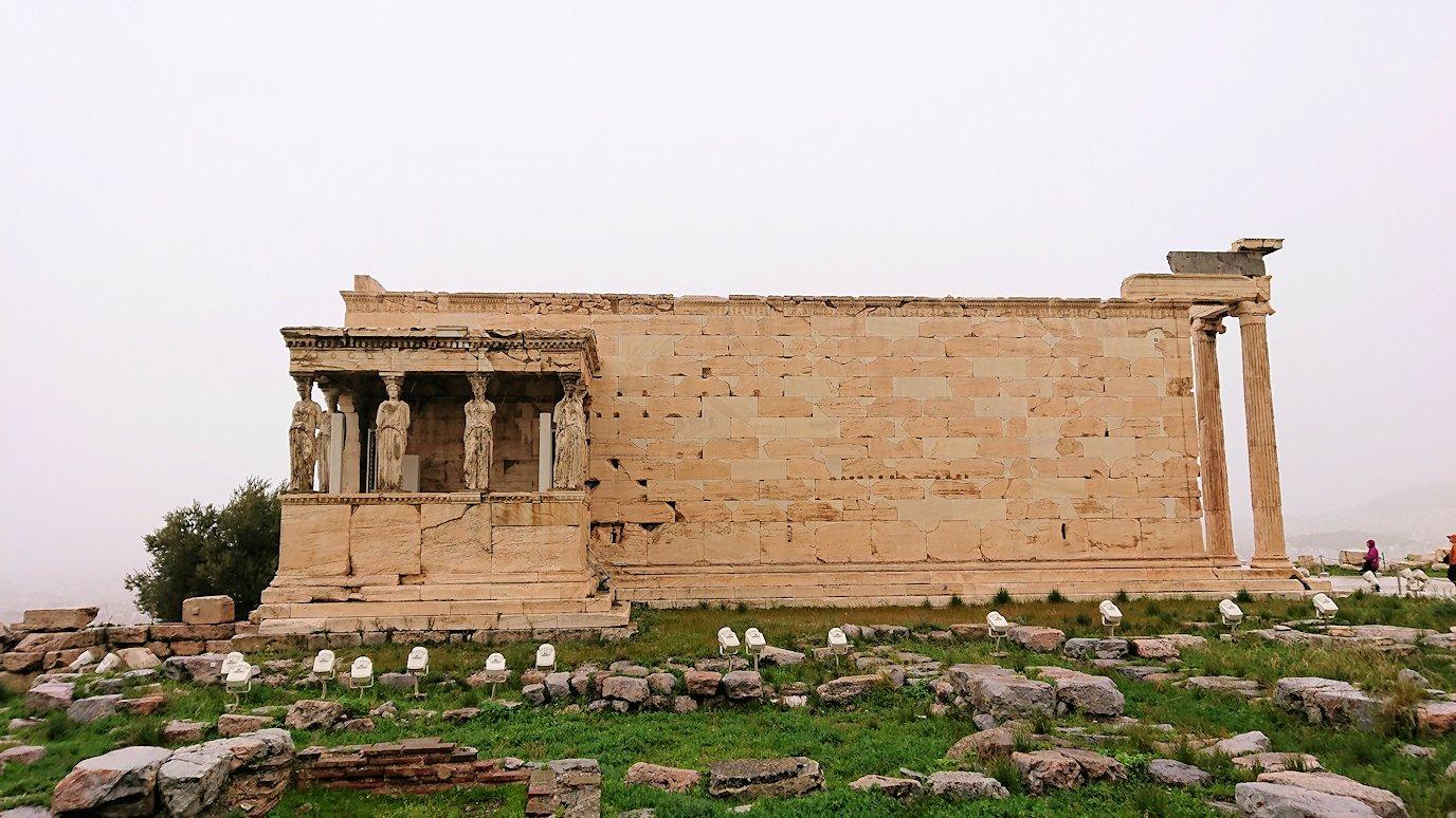 ギリシャのアクロポリス遺跡のエレクティオンの様子2