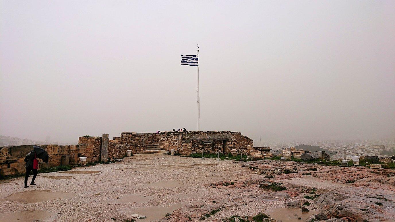 ギリシャのパルテノン神殿の近くから見てみた景色