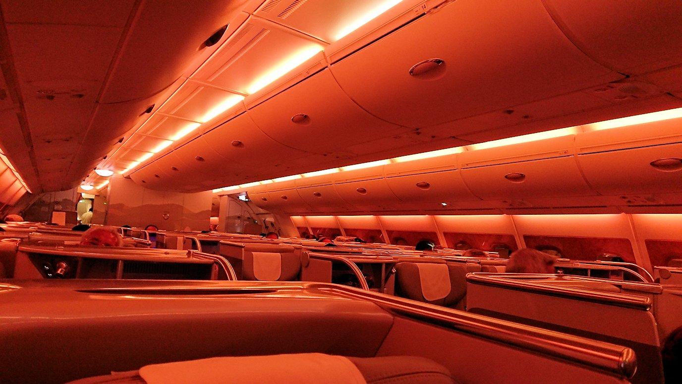 関西国際空港からビジネスクラスに乗り、出発前の様子2