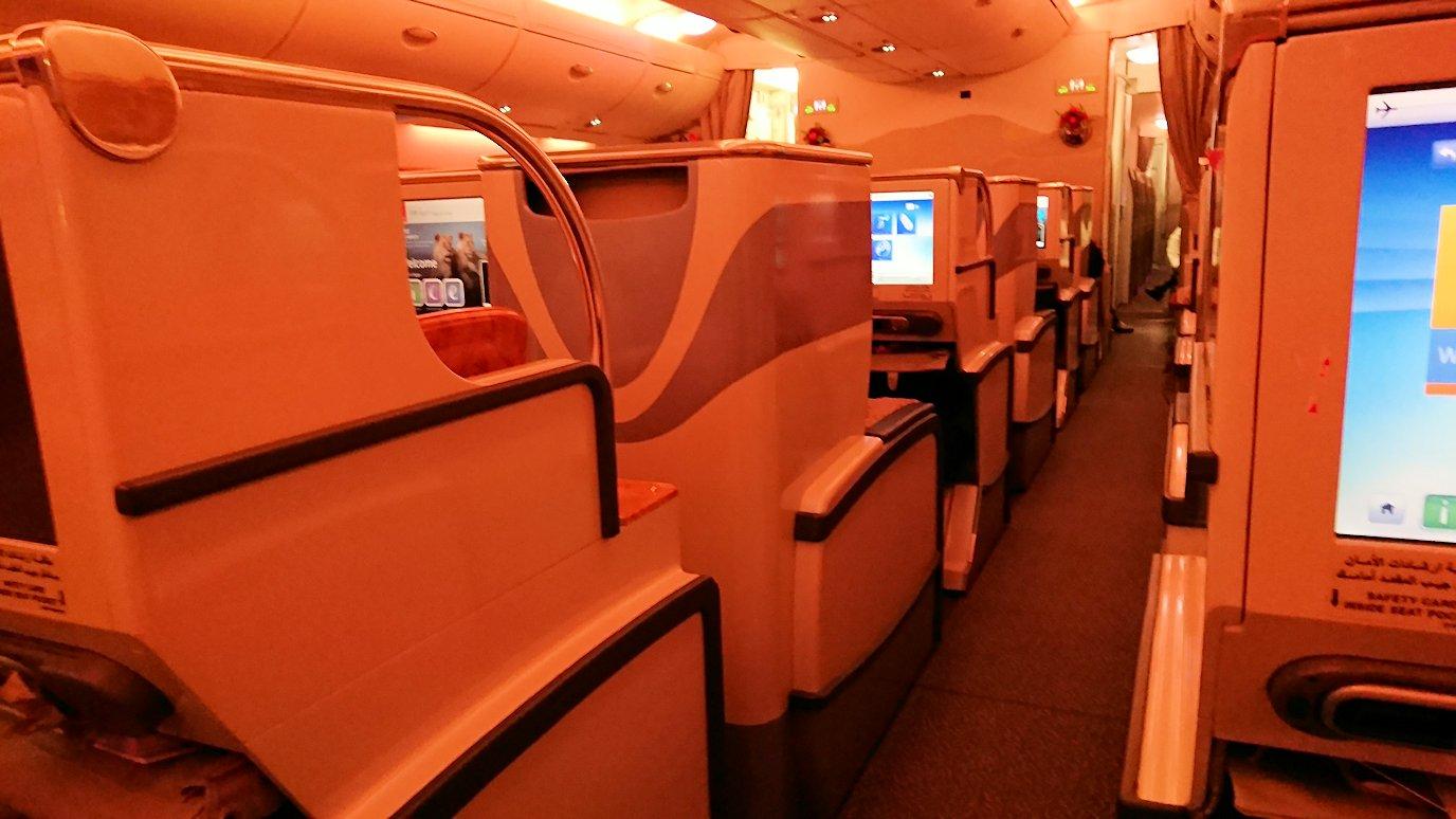 関西国際空港からビジネスクラスに乗り、出発前の様子4