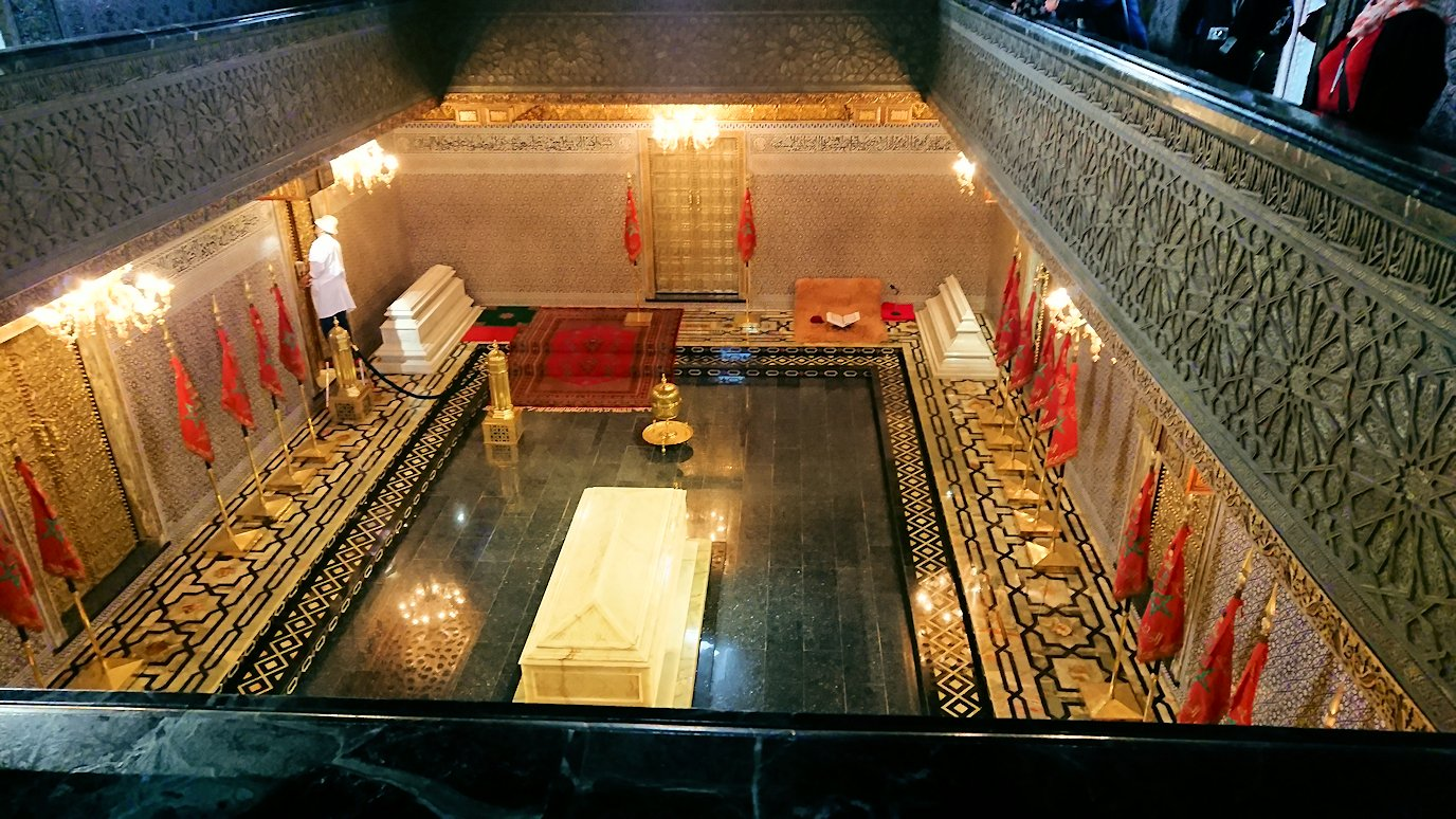 ラバトのムハンマド5世霊廟にの中の様子
