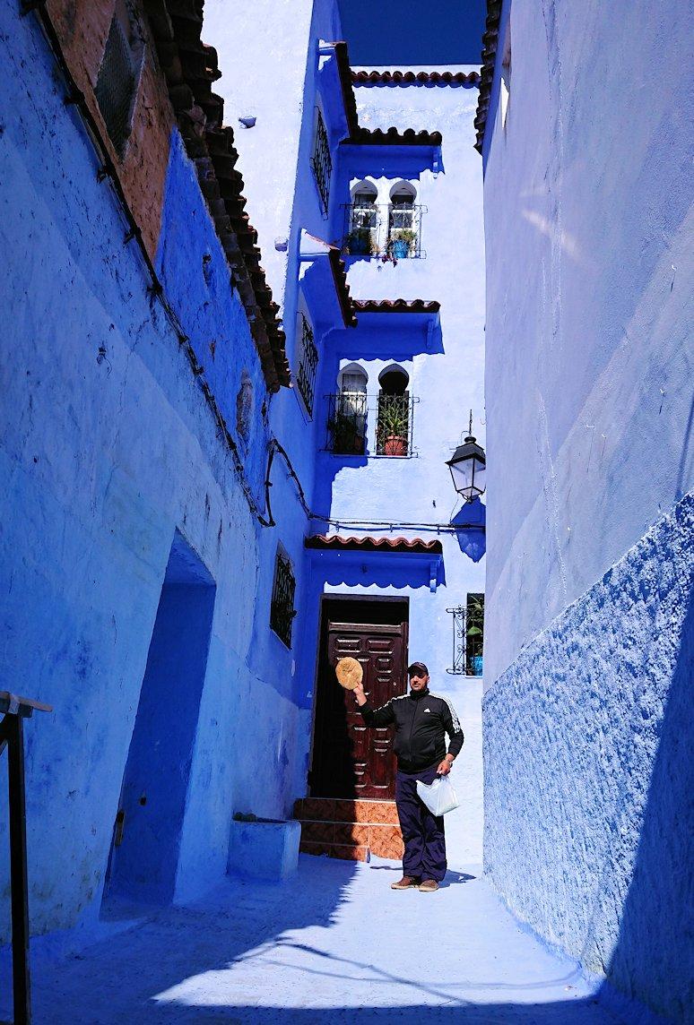 青い街シャウエンでキレイな風景を見る2