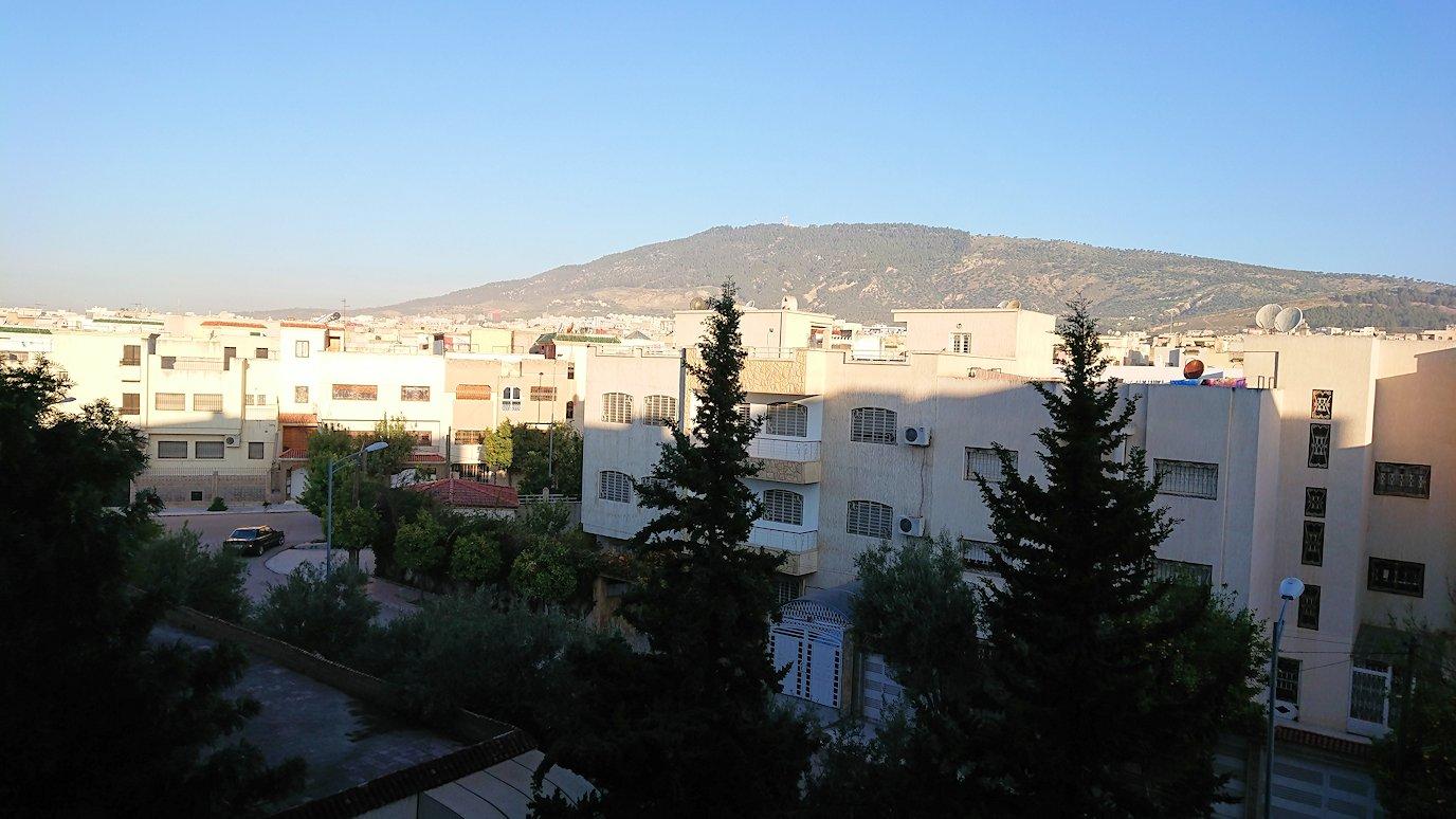 フェズのホテルの部屋からの眺め