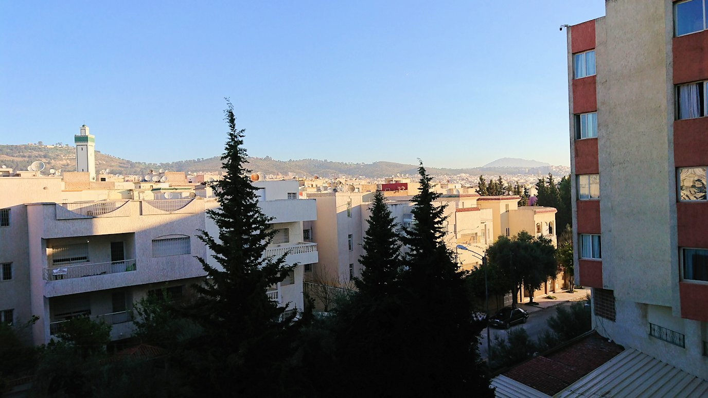 フェズのホテルの部屋からの眺め1