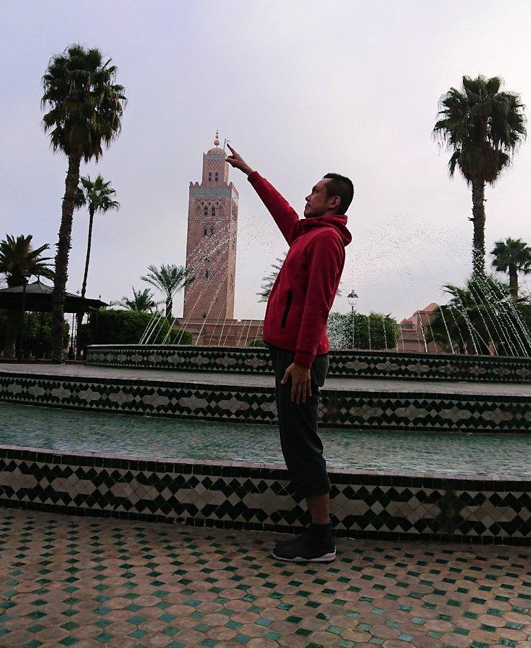 モロッコのマラケシュ市内でクトゥビア・モスクを見物4