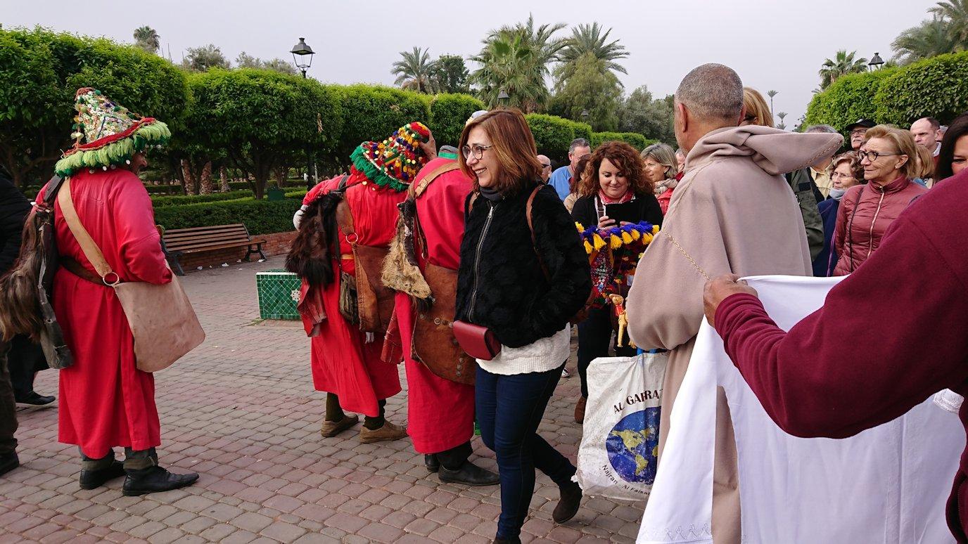 モロッコのマラケシュ市内でクトゥビア・モスクを見物6