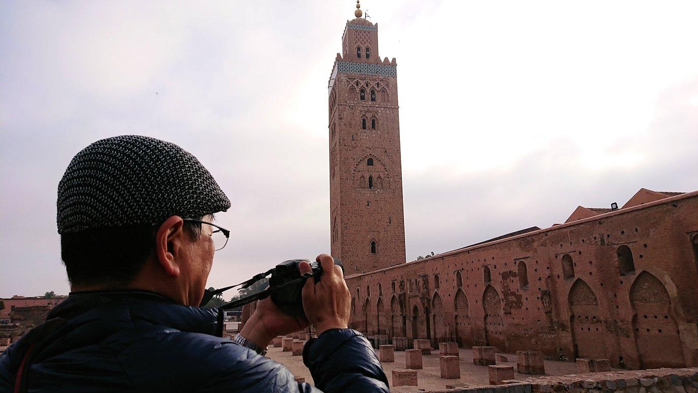 モロッコのマラケシュ市内でクトゥビア・モスク付近の様子5