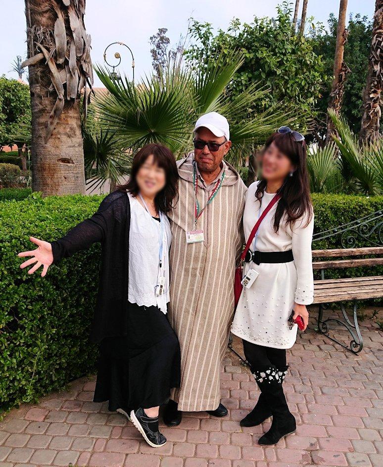 モロッコのマラケシュ市内でクトゥビア・モスク付近の公園の景色6