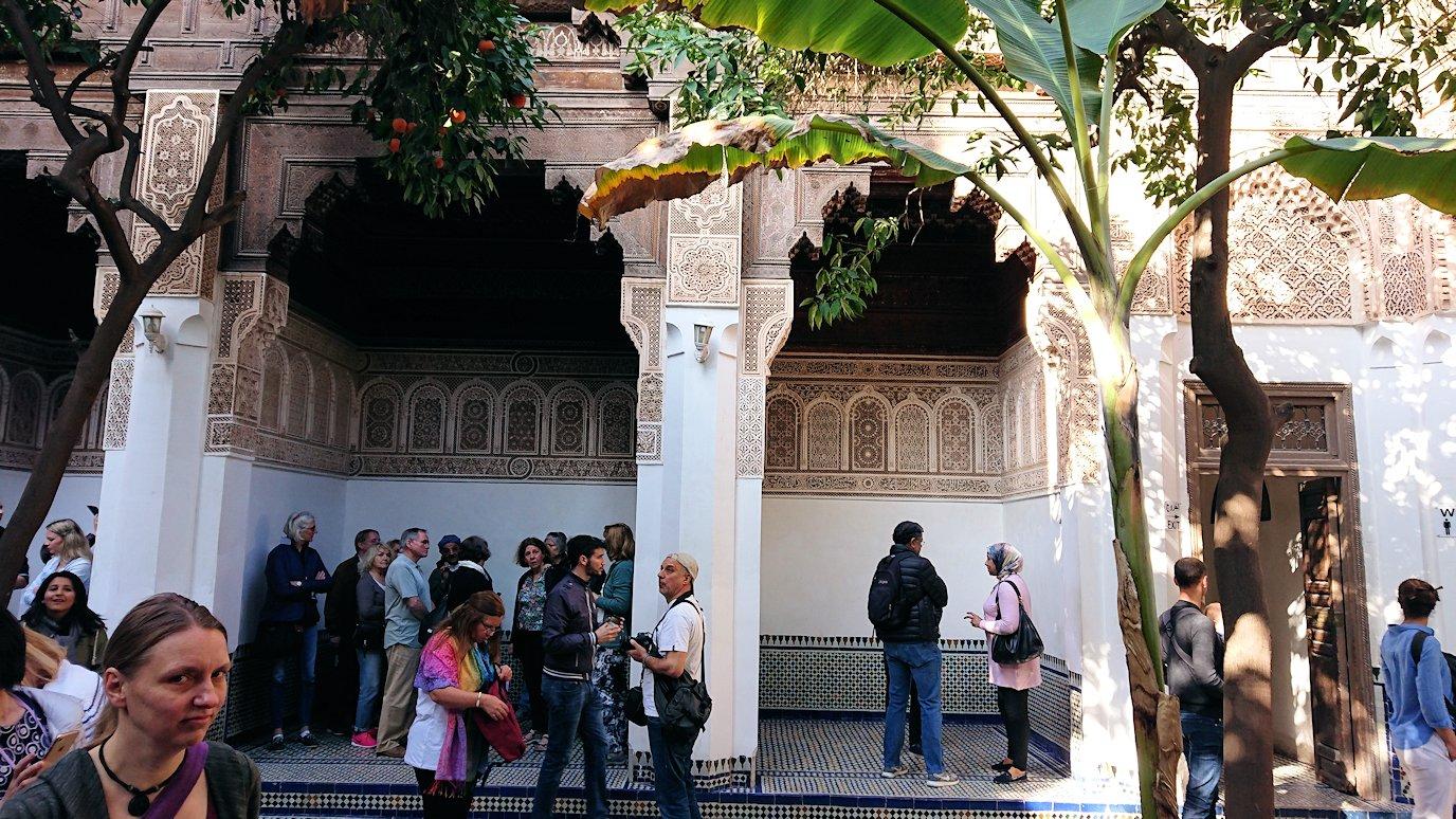 モロッコのマラケシュでバヒア宮殿の中の様子3