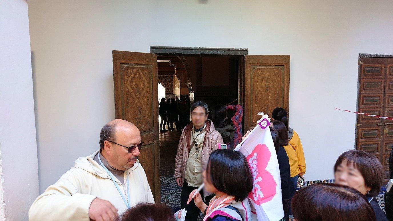 モロッコのマラケシュでバヒア宮殿の中の様子6