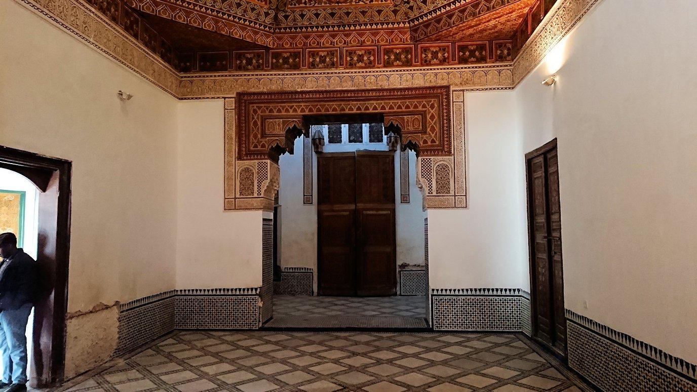 モロッコのマラケシュでバヒア宮殿の中の様子9