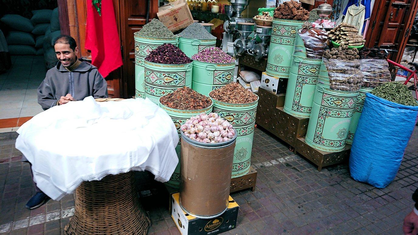 モロッコのマラケシュでバヒア宮殿から次の目的地に移動