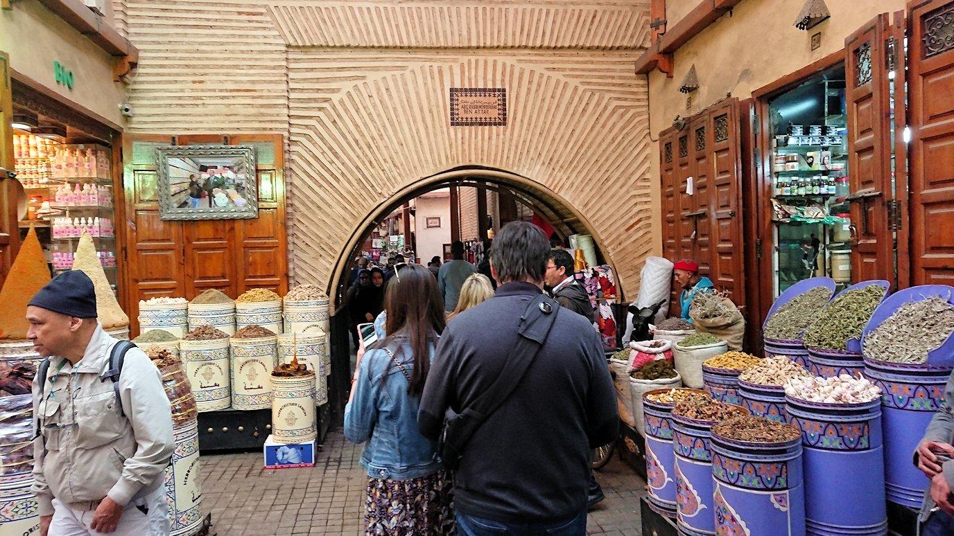 モロッコのマラケシュでバヒア宮殿から次の目的地に移動1