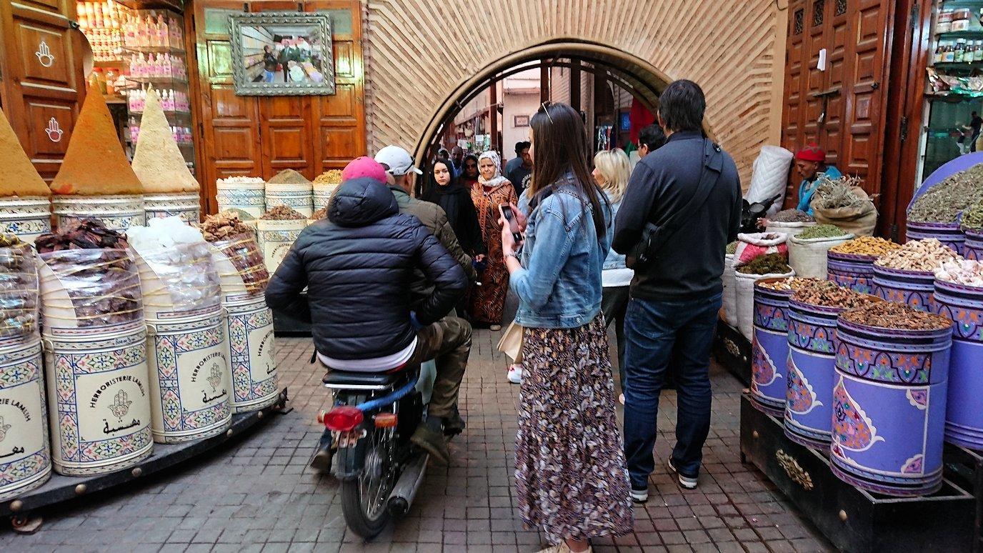 モロッコのマラケシュでバヒア宮殿から次の目的地に移動2