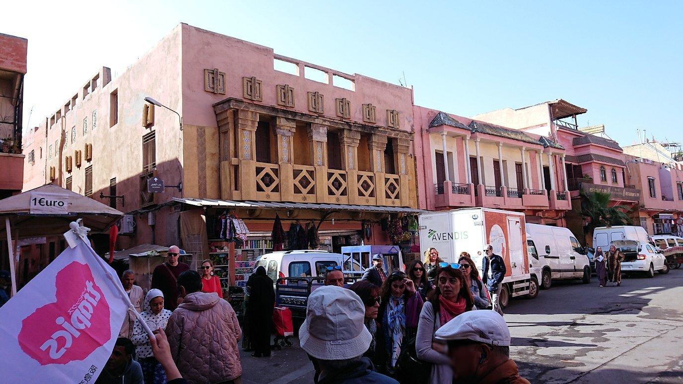 モロッコのマラケシュでバヒア宮殿から次の目的地に移動途中に見かけたもの5