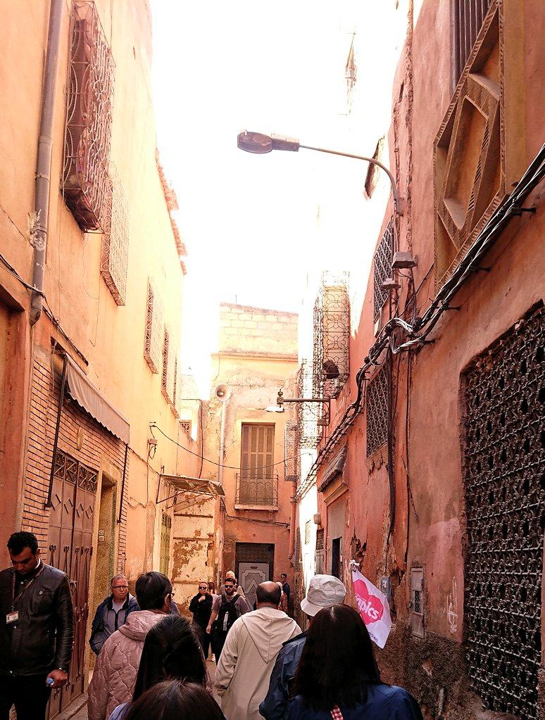 モロッコのマラケシュでバヒア宮殿から次の目的地に移動途中に見かけたもの6