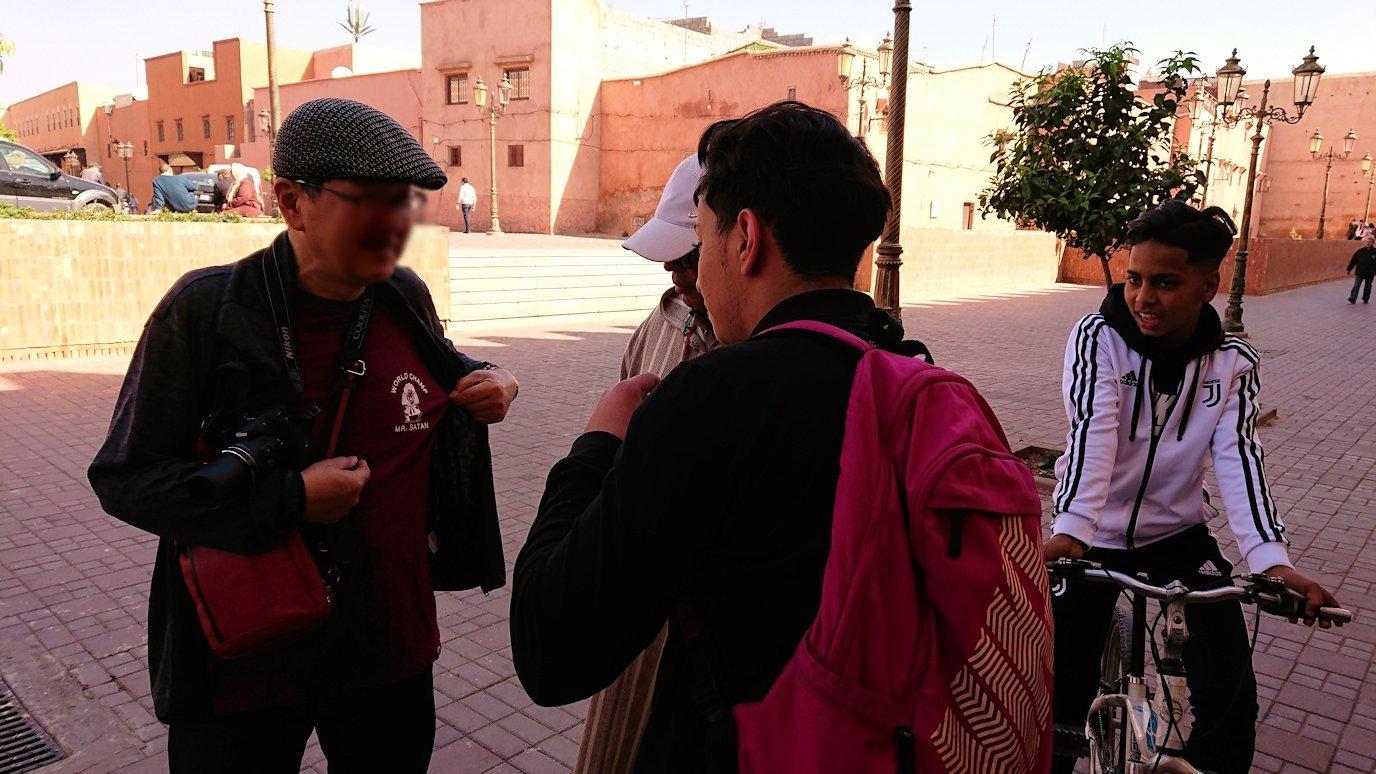 モロッコのマラケシュでアルマンスールモスク付近の様子8