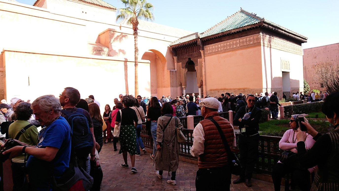 モロッコ・マラケシュのサアード朝の墓跡を見学予定