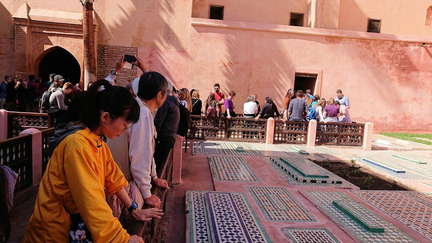 モロッコ・マラケシュのサアード朝の墓跡を見学予定4
