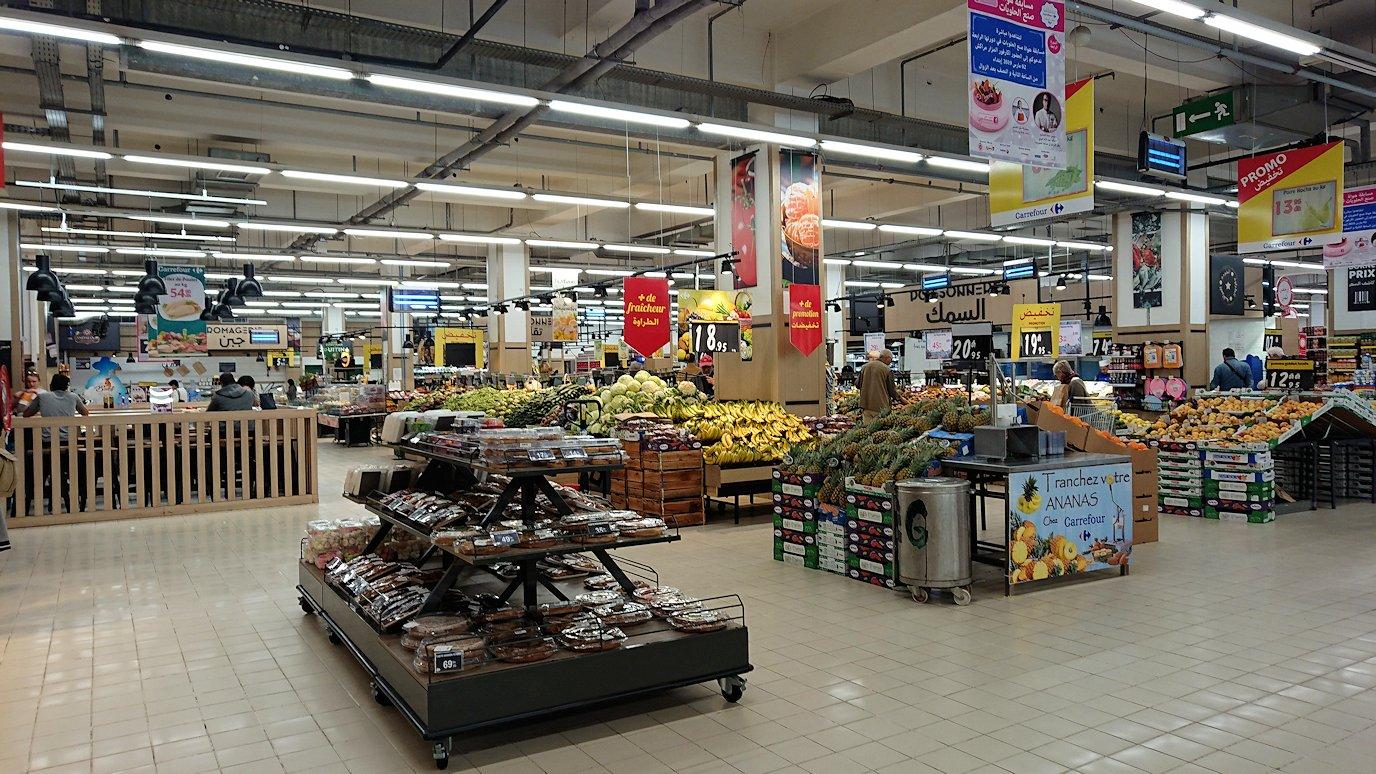 モロッコ・マラケシュでホテル近くのショッピングモールにあるスーパーマーケットの様子3