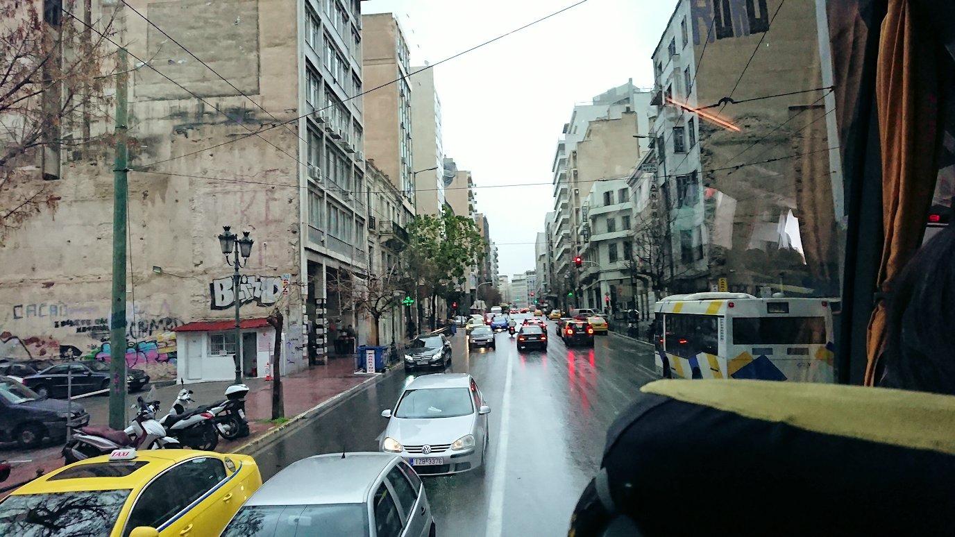 アテネ市内をバスで移動2