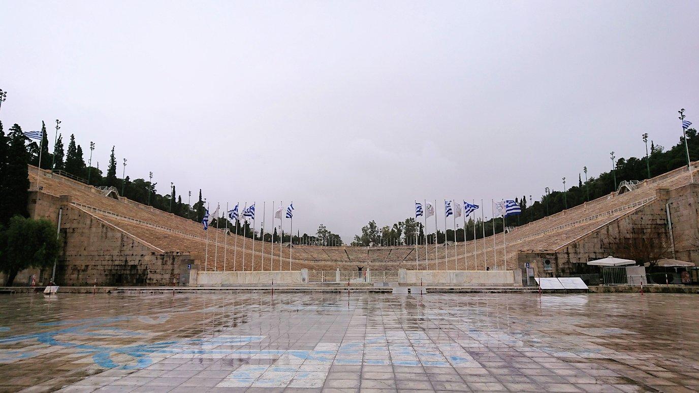 アテネ市内のパナティナイコ・スタジアムを見学