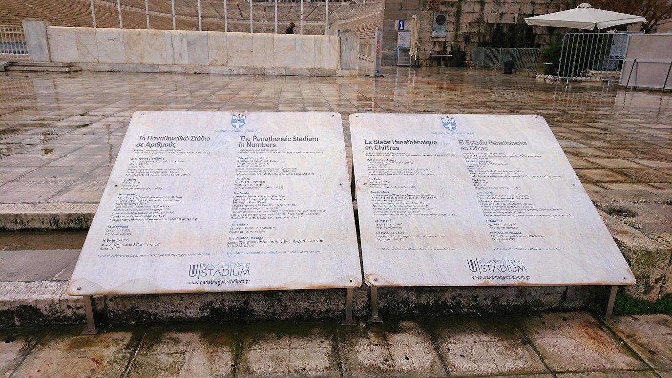 アテネ市内のパナティナイコ・スタジアムを見学2