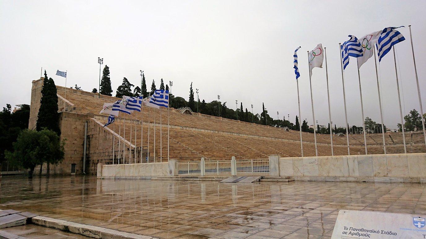 アテネ市内のパナティナイコ・スタジアムを見学4