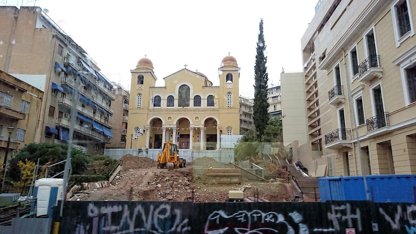 アテネ市内のパナティナイコ・スタジアムを見る7