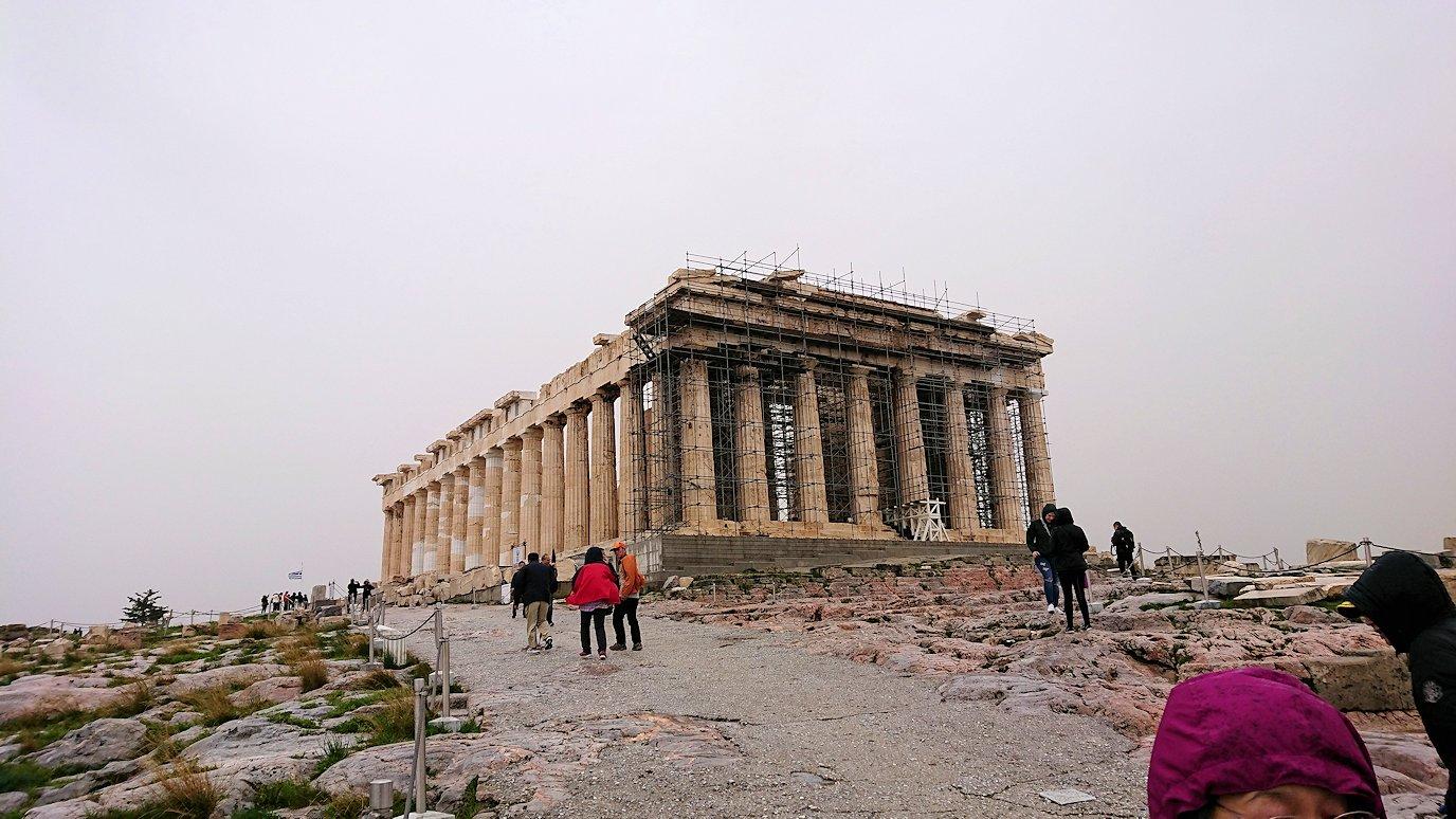 ギリシャのアクロポリス遺跡にてパルテノン神殿とご対面