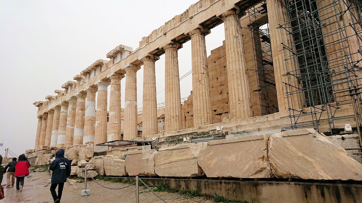ギリシャのアクロポリス遺跡にてパルテノン神殿とご対面2