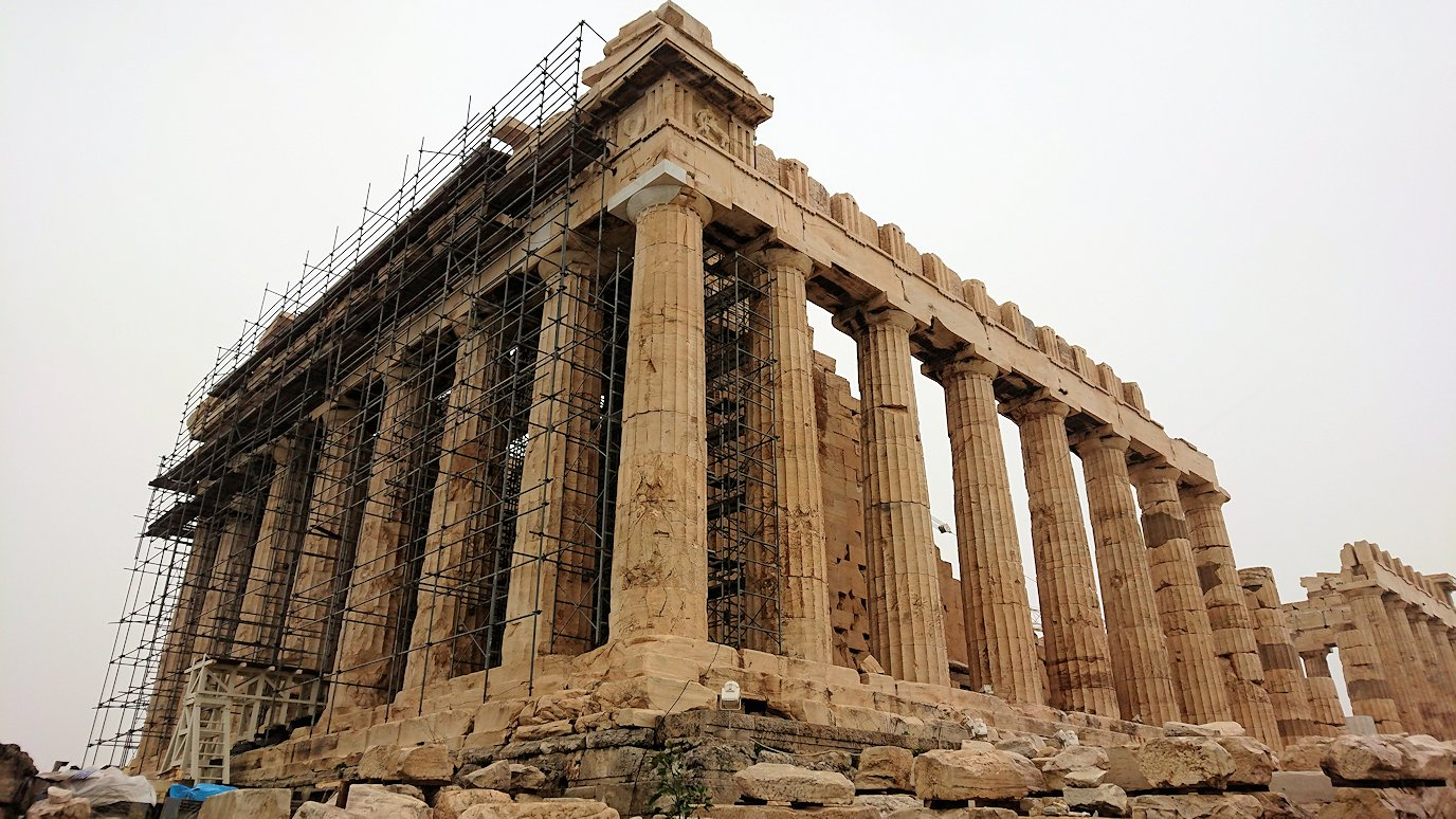 アクロポリス遺跡のパルテノン神殿を再び見てみる4