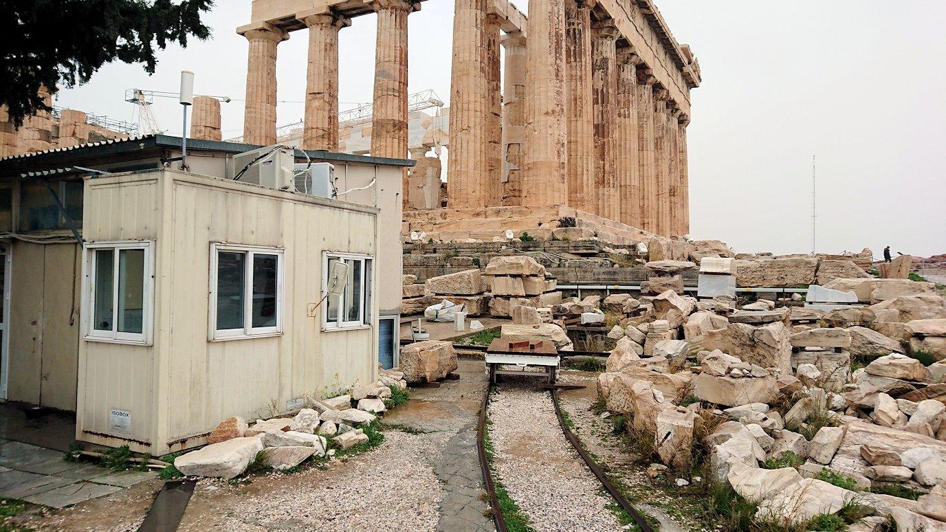 アクロポリス遺跡のパルテノン神殿の南側の景色3