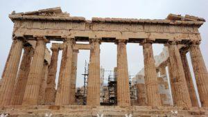 アクロポリス遺跡のパルテノン神殿の南側の景色5