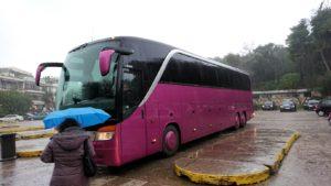 アクロポリス遺跡からバスに戻る