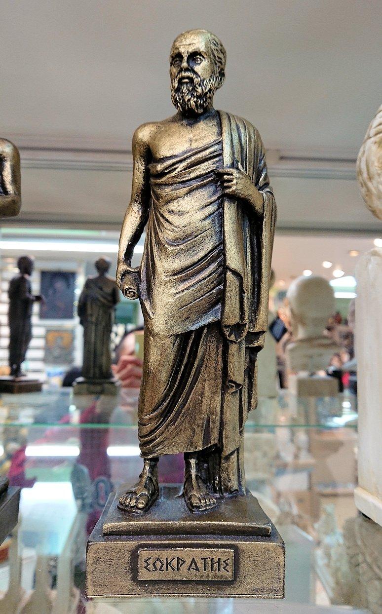 アテネ市内のお土産物屋さんを物色する6