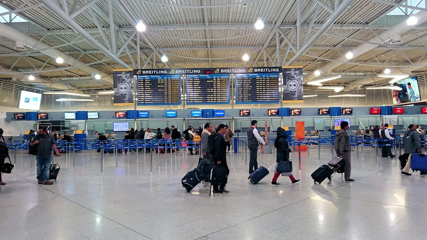 アテネ空港に到着3