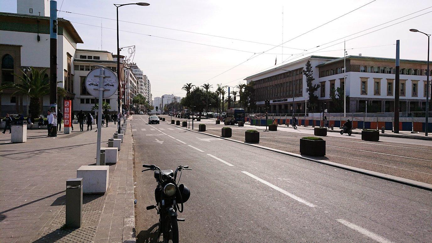 カサブランカのムハンマド5世広場周辺の様子