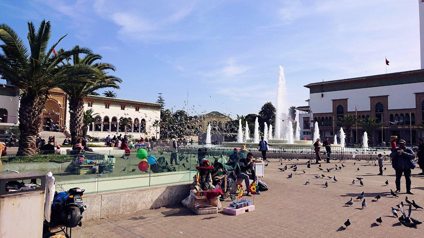 カサブランカのムハンマド5世広場周辺の様子4