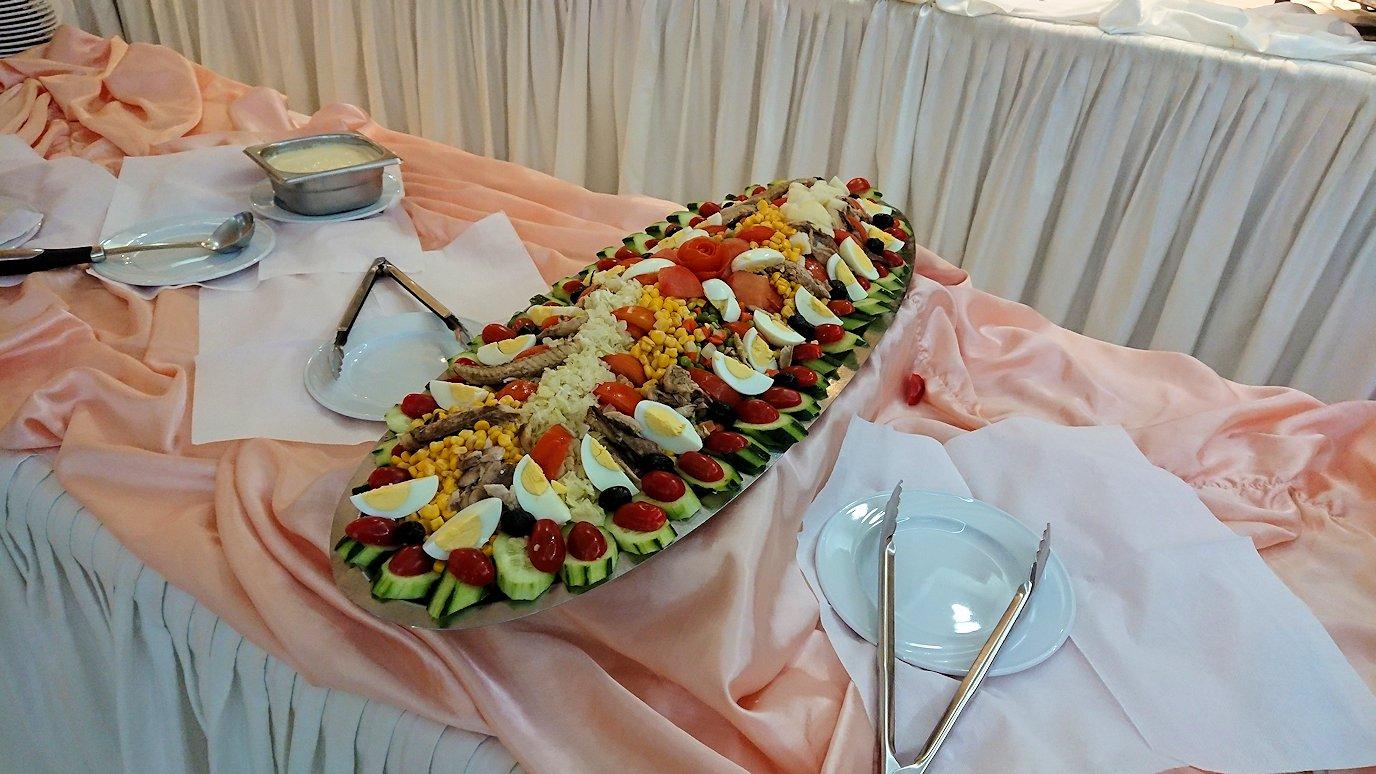 ラバトのホテルで昼食を食べる