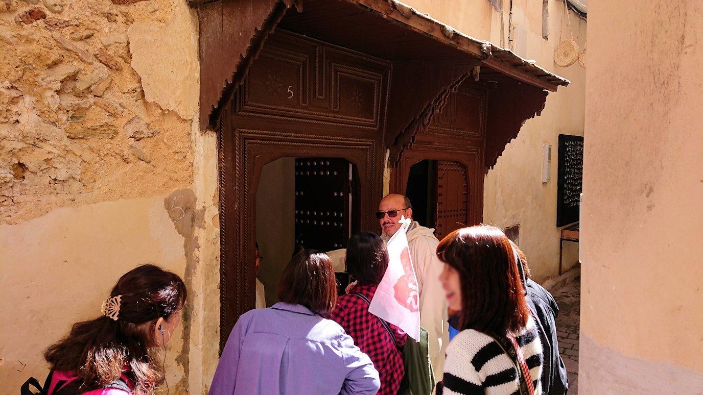 フェズの旧市街地で一般家庭を訪問
