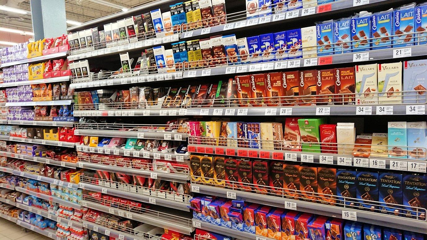 フェズのスーパーマーケットの様子