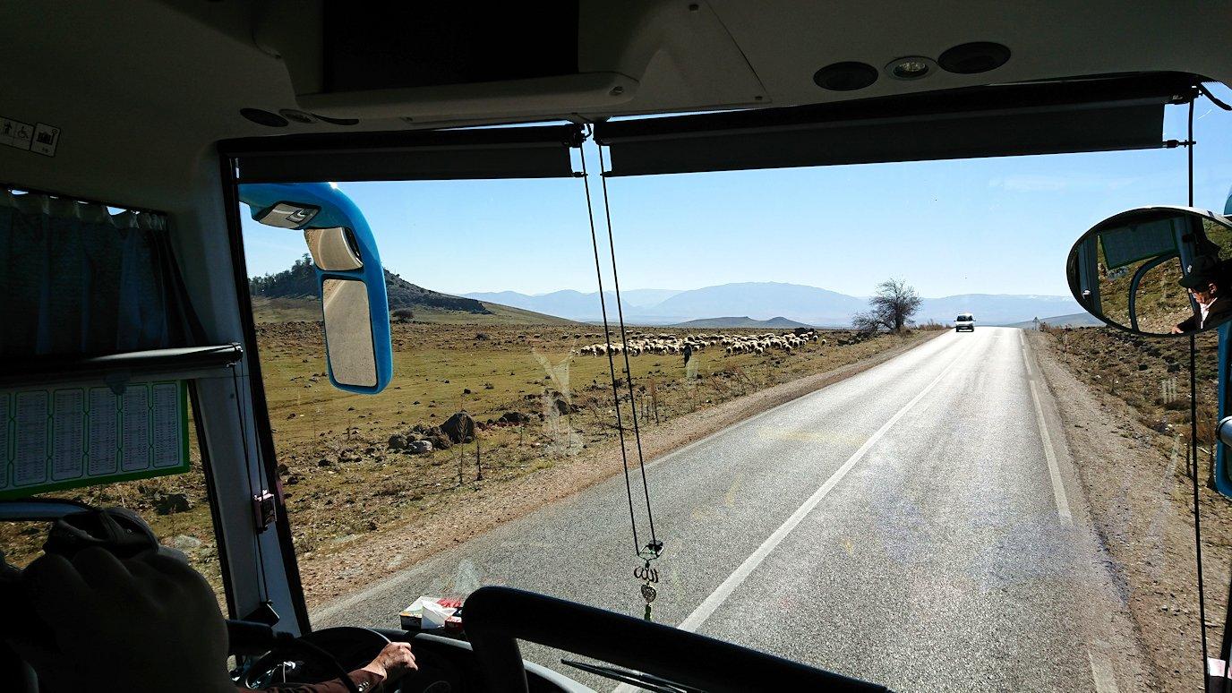 モロッコでイフレンの街からミデルトに向かう途中の景色1