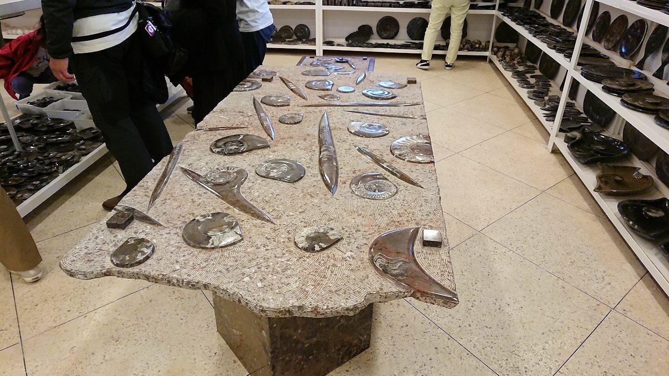 モロッコのエルフードで化石のお土産物屋さんの様子2