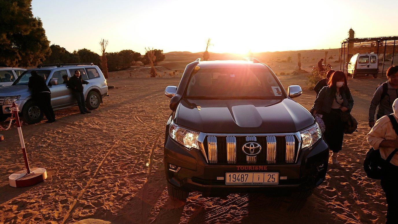 モロッコのメルズーガにて砂漠のホテルに到着6