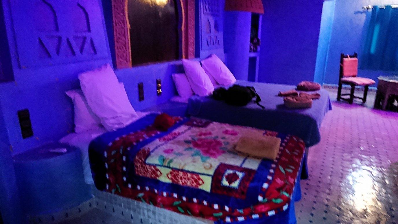 モロッコのメルズーガの砂漠ホテルの部屋の様子3