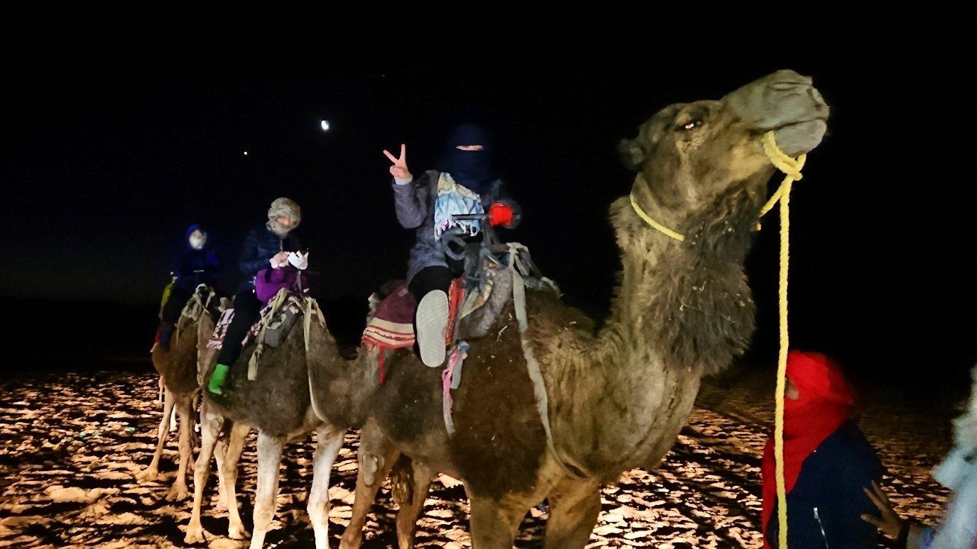 サハラ砂漠で星空観賞に向かう4
