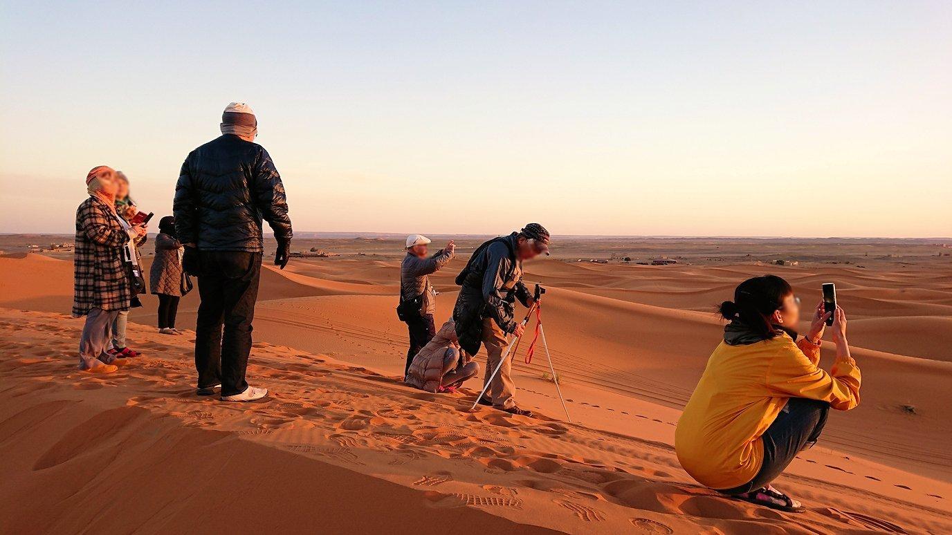 モロッコのサハラ砂漠で遂に朝日とご対面4