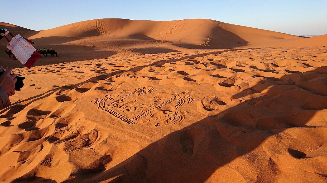 モロッコでサハラ砂漠の朝日鑑賞を終えて戻ります8