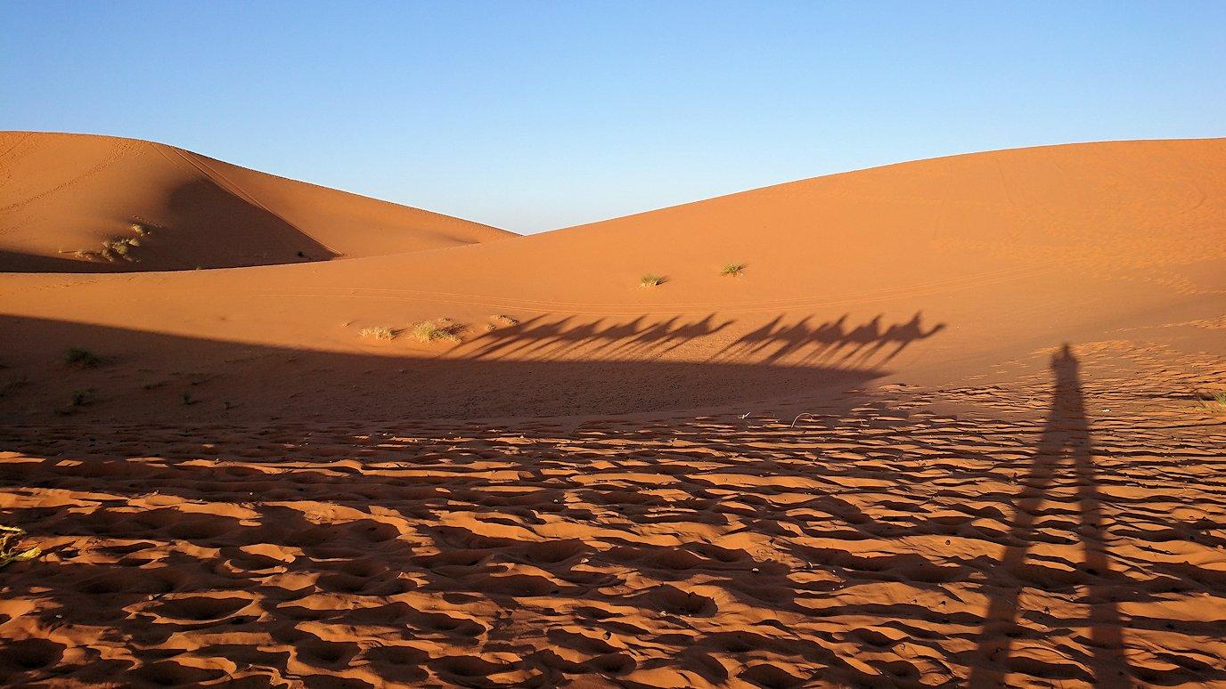 モロッコでサハラ砂漠の朝日鑑賞を終えて帰る道中の様子5